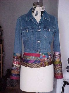 Don't like this but what a great idea to make fabric from ties a la Karen Millen and then make sleeves or other insertions for garments.