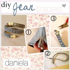DIY jean bracelet, created by the-tip-girls-of-neverland on Polyvore