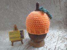 Pumpkin hat crochet baby hat newborn by kingsnqueenscrochet