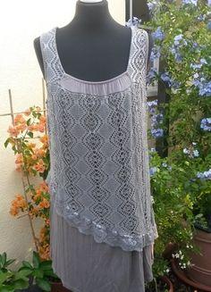 Kaufe meinen Artikel bei #Kleiderkreisel http://www.kleiderkreisel.de/damenmode/kurze-kleider/109248006-schlammfarbenes-kleid-mit-spitze-italienische-mode-gr-424446