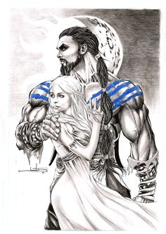 Drogo and Daenerys by Jonatas