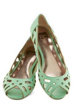Discover Your Pastel Flat in Mint, #ModCloth