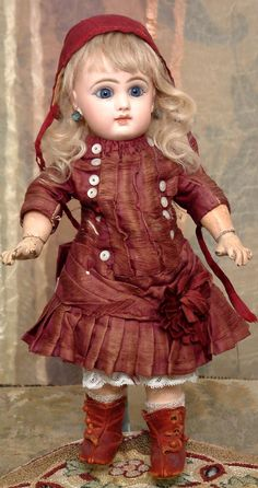 "12"" All Original Size 3 Jumeau Antique French Bebe Doll C. 1890 from kathylibratysantiques on Ruby Lane"