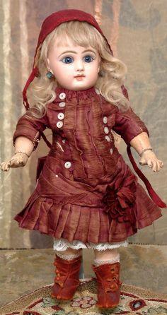 "12"" All Original Size 3 Jumeau Antique French Bebe Doll C. 1890 from kathylibratysantiques on Ruby Lane"