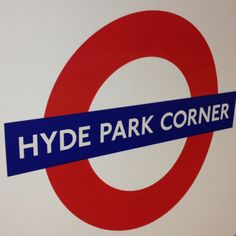 Hyde Park Corner tube station, 2mins from the hotel