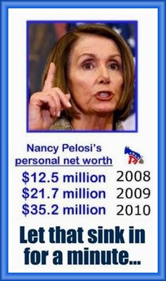 Instead of investigating president trumps finances perhaps we should look into to Nancy's!