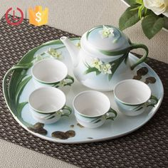 Porcelain enamel 6pcs plant design tea set for home, View tea set, YOU LAI FU Product Details from Shenzhen Youlaifu Household Company Limted on Alibaba.com
