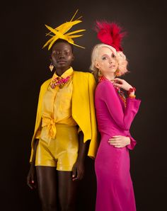 Yellow leather vintage inspired Neon Pony shorts featured in a photoshoot styled by the talented Emily Howlett
