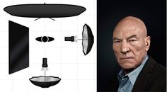 Celebrity Portrait Lighting Setup Patrick Stewart Rory Lewis Photographer
