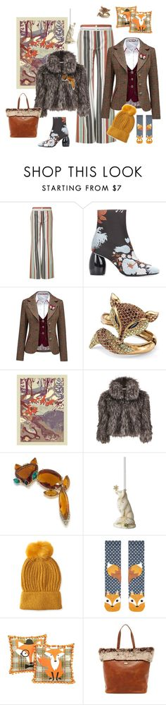 """""""Foxy Faux- think before you buy!"""" by juliabachmann ❤ liked on Polyvore featuring Chloé, Dries Van Noten, Joe Browns, Palm Beach Jewelry, Monde Mosaic, Gina Bacconi, Trina Turk, Foundations, Aéropostale and Accessorize"""