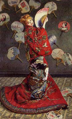 Claude Monet 'Camille en costume de japonaise' 1876
