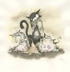 Three Little Kittens by Gris Grimly