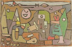 """Paul Klee, """"Fun on the Inland Lake"""",  brush, ink and pastel on paper on card, 1932. The Art Institute of Chicago."""