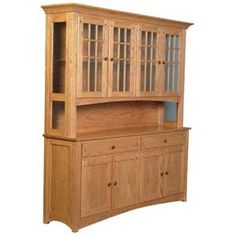 Royal Mission Open Hutch with 3 Mullion Doors by Simply Amish