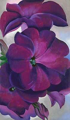 art-and-dream:    Art painting  Petunias  1925 wonderful by Georgia Totto O'Keeffe (November 15, 1887-March 6, 1986) was an American artist | Nature painting art | Flower art