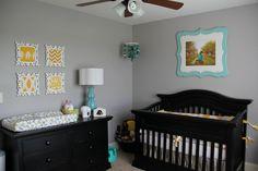 quarto de bebe cinza e amarelo - Google Search