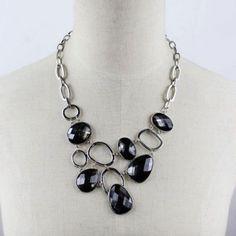 $5.32 Charming Solid Color Gemstone Embellished Pendant Women's Necklace