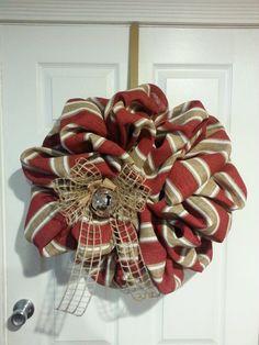 Large Burlap Wreath by CrafttasticWreaths on Etsy