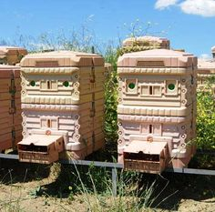 I love looking at hives in other countries.  This one looks like something out of StarWars.  I wish there was info about the hives on the site, but no!  We can only wonder... Image from keepingbee.org