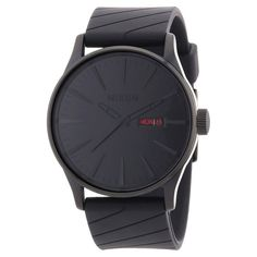 Nixon A027001 Men s Sentry Black Dial Black IP Steel Black Rubber Strap  Watch Ropa De Caballero b8f58a8341862