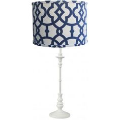 Arval Navy Lattice Table Lamp