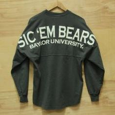 Sic Em Bears Spirit Jersey - Granite. Congress clothing is the best store for Baylor gear