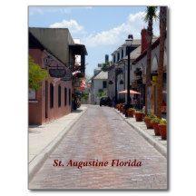 Aviles street St. Augustine, Florida Postcard