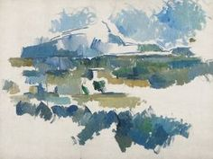 Paul Cézanne, La Montagne Sainte Victoire, vue des Lauves on ArtStack #paul-cezanne #art