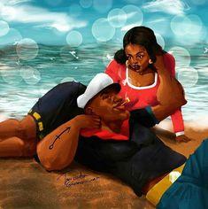 ・・・ By - I know it's hella late but I think I finished it yall 🙌🏾 Black Love Art, Black Girl Art, My Black Is Beautiful, Black Girl Magic, Black Man, African American Art, African Art, African Beauty, Popeye And Olive