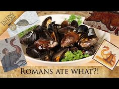 Oldest Cookbook in the West | APICIUS | Ancient Roman Mussels - YouTube Old Recipes, Cookbook Recipes, Steamed Mussels, Sweet Wine, Cookery Books, Weird Food, Fish Sauce, Ancient Romans, Eat