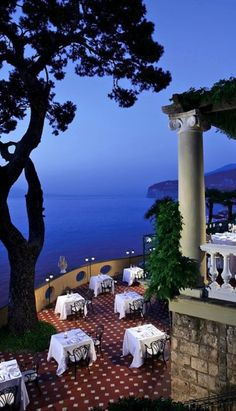 Dining alfresco at the Hotel Bellevue Syrene ~ Sorrento, Italy Places Around The World, Oh The Places You'll Go, Places To Travel, Places To Visit, Around The Worlds, Italy Vacation, Vacation Spots, Italy Travel, Italy Trip