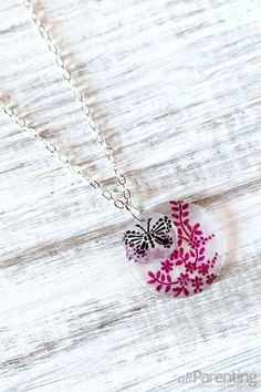 #DIY shrinky dink necklace. Cool old school fun -- but make something for yourself, not your kids! :)