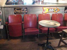 Old cinema seats