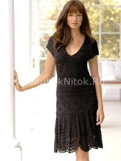 Fantastic crochet dress with pattern