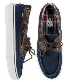 Vans Zapato Del Barco Shoes - (C & P) Navy: $65.00