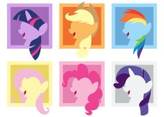 Mane 6 - Simple Avatar Heads by CaliAzian on DeviantArt My Little Pony Bedroom, Mlp My Little Pony, Rainbow Dash, Avatar, Coloring Pages, Cartoons, Horses, Deviantart, Journal