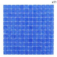 Eden Mosaic Tile EMT_BUB-PB1 Bubble Glass Mosaic Tile 11 Sheets