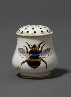 Josiah Wedgwood and Sons sugar caster with bee design, England, early 19th century.