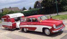 Wartburg 311 Camping with Qeck Junior Camptrailer Chevy Impala, Cadillac, East German Car, Ddr Brd, Vintage Caravans, Hot Rides, Old Cars, Motorhome, Cars And Motorcycles