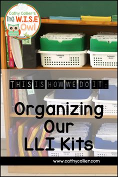 """LLI is an amazing Tier 2 intervention at my school, but it comes with LOTS of """"stuff."""" This post gives some organization ideas for this great program."""