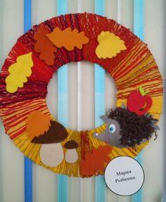 Autumn Leaves Craft, Autumn Crafts, Nature Crafts, Flower Pot Crafts, Leaf Crafts, Yarn Crafts, Diy Projects For Kids, Diy For Kids, Crafts For Kids