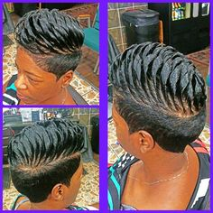 Simply click the link to find out more simple Black hairstyles Short Sassy Hair, Short Curls, Short Hair Cuts, Short Hair Styles, Pixie Styles, Short Relaxed Hairstyles, Hair Shows, Creative Hairstyles, New Hair