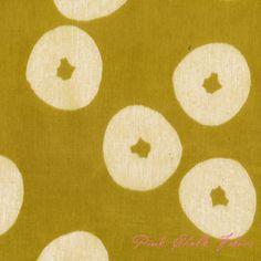 Tomotake Muddy Works Doughnut Citron - Double Gauze Cotton