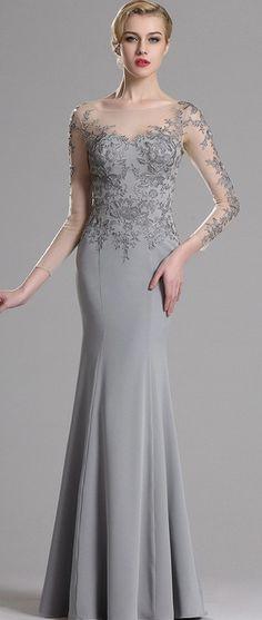 eDressit Floral Applique Prom Evening Dress