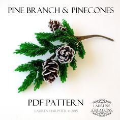 This tutorial will help you learn to make your own beaded pine branches and pinecones using two easy to learn French Beading techniques. It covers 8 pages and contains over 20 full color pictures depicting each step along with detailed written instructions...