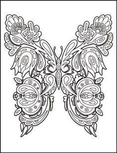Butterflies Coloring Book For Adults By Amanda Neel Davlin Publishing