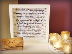 Vincent Van Gogh quote - 'I think that I see something deeper, more infinite, more eternal than the ocean in the expression of the yes of a little baby when it wakes in the morning and coos or laughs because it sees the sun shining on its cradle. - Handmade paper cut Framed Quotation – New Baby Gift by MyMumAndMeQuotes on Etsy