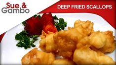 deep-fried-scallops – Sue and Gambo Quick Appetizers, Quick Snacks, Deep Fried Scallops Recipe, Easy Scallop Recipes, Recipe Please, Chinese Food, Seafood, Fries, Stuffed Peppers