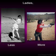 Why do so many women seem to instinctively lean back when they pick up a firearm? (Guys do it too.)