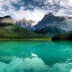 Kayaking on Emerald Lake - Yoho National Park, BC, Canada
